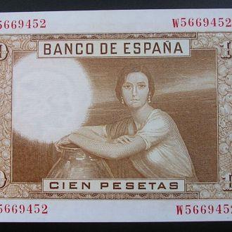 Испания 100 песет 1953 UNC