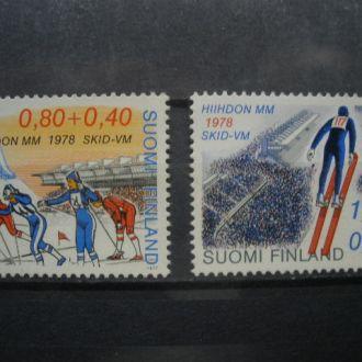 Финляндия.1977г. Зимние виды спорта. Полная серия. MNH