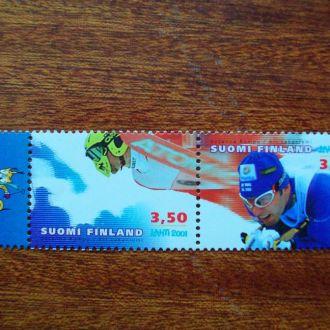 Финляндия.2001г. Лыжный спорт. Полная серия. MNH