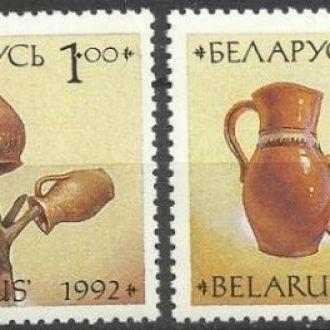 Беларусь 1992 искусство керамика 4м.**
