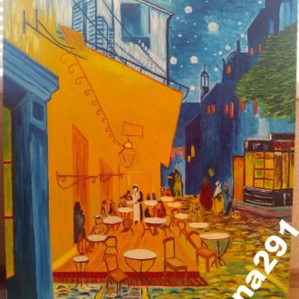 Картина Ночная терраса кафе в Арле 60*80см