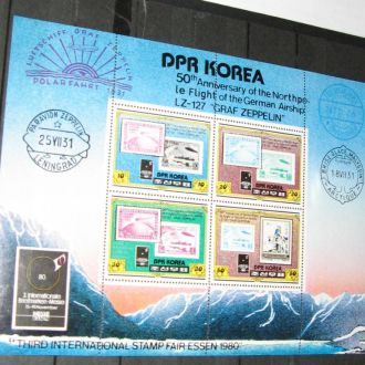 Корея сев. 1980 транспорт дирижабли Цеппелины фауна медведи Клб А**