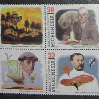 Микронезия 1993 Транспорт Самолёты Пионеры полётов