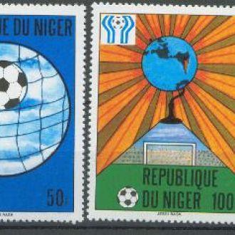 Нигер 1978 футбол ЧМ 4м.+бл.**