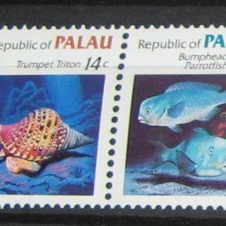 Палау 1985 Фауна морская Кораллы Рыбы 2м.**