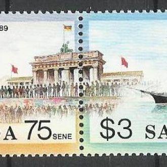 Самоа 1990 транспорт парусник Бисмарк Берлин 2м.**