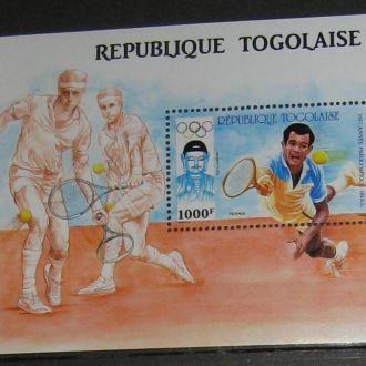 Того 1987 Олимпиада Сеул Теннис бл.**
