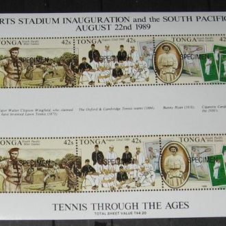 Тонга 1989 Теннис К/б**