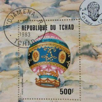 Республика Чад 200 лет аэронавтики 1783-1983 500 ф