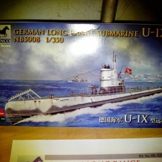 1/350 BRONCO MODELS German U-boat type IX A