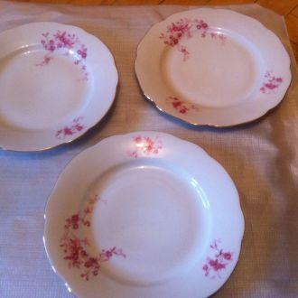 Фарфоровые Чешские тарелки
