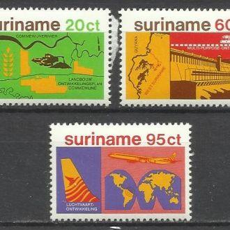 Суринам 1978 транспорт авиация 3м.**