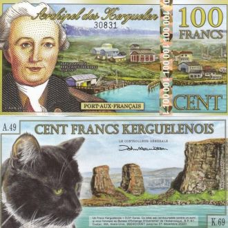 Kerguelen Кергелен - 100 Francs 2012 UNC JavirNV