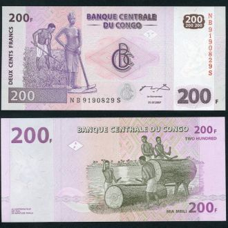 Congo DR / Конго - 200 Francs 2007 - OLM-OPeN