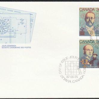 Канада 1987 НАУКА ИЗОБРЕТЕНИЯ ОТКРЫТИЯ УЧЁНЫЕ ИССЛЕДОВАТЕЛИ СВЯЗЬ РАДИО ПЕЧАТЬ КПД Mi.1042-1051