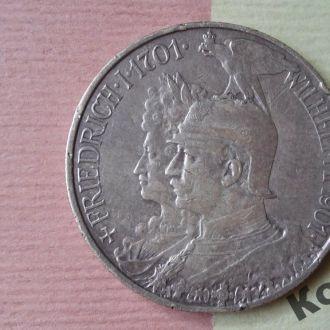 Монета 2 марки  1901 года