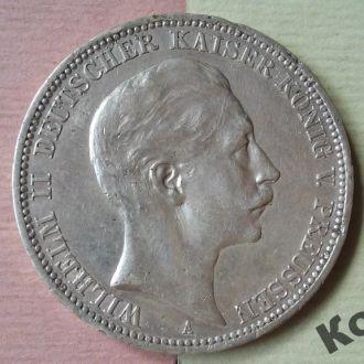 Монета 3 марки 1912 года