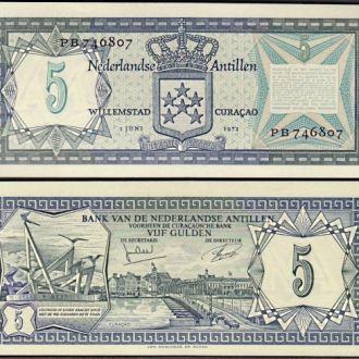 Netherlands Antilles / Антилы - 5 Gulden 1972 UNC