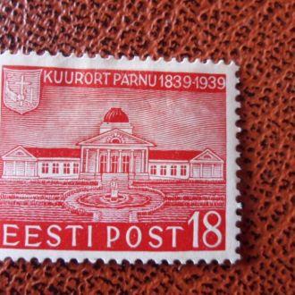 Прибалтика Эстония Пярну  Мих.3 Евро 1939 г.