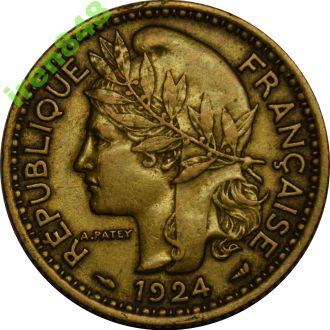 Французский Камерун 1 франк 1924