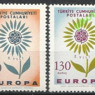 Турция 1964 Европа СЕПТ 2м.**