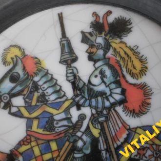 Німеччина. Рицарь на коні.ТАРІЛОЧКА метал+кераміка