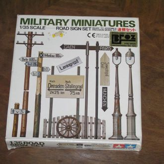 Tamiya  Military Miniatures /Road Sign set/  1/35