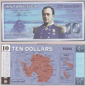 Antarctica Антарктика 10 Dollars 2001 UNC JavirNV
