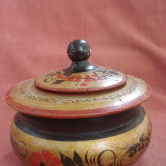 Шкатулка деревянная. Артель Хохломская роспись