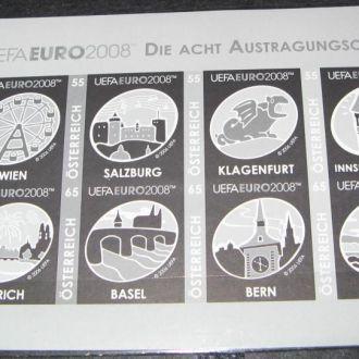 Австрия 2008 Футбол ЕВРО К/б чернодрук**