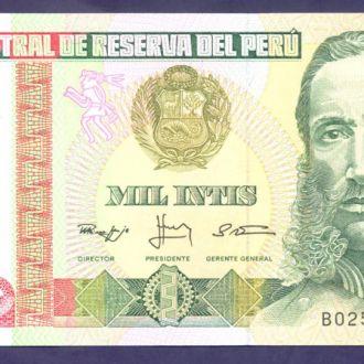 Боны Америка Перу 1000 интисар 1988 г.