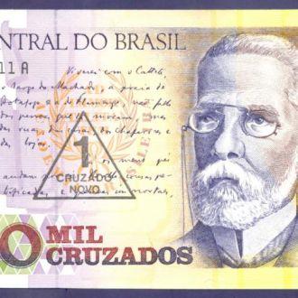 Боны Америка Бразилия 1000 крузадо 1989 г печать.