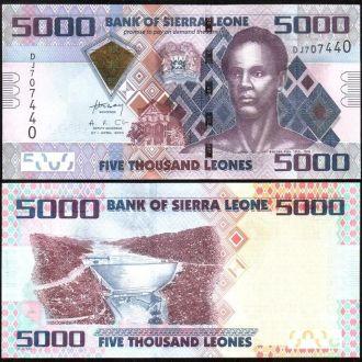 Sierra Leone / Сьерра-Леоне - 5000 Leones 2010 UNC