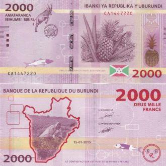 Burundi Бурунди - 2000 Francs 2015 UNC JavirNV