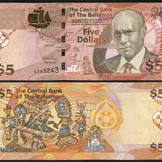 Bahamas / Багамы - 5 Dollars -  2007  UNC