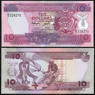 Solomon Isl/ Соломоновы о-ва - 10 Dollars 1986 UNC