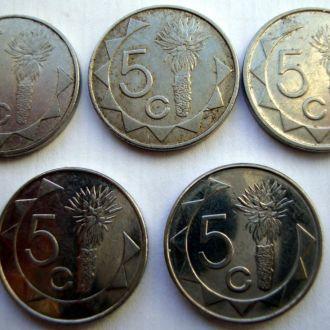 Намибия 5 центов ( набор)