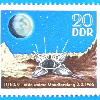 ГДР. 1966 г. Автоматическая станция Луна-9