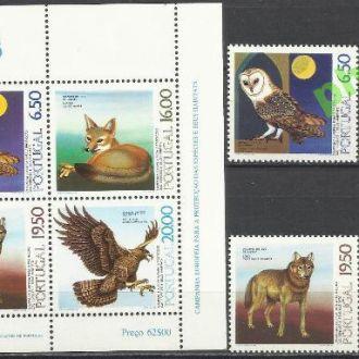 Португалия 1980 Европа фауна птица сова 4м.+бл.**