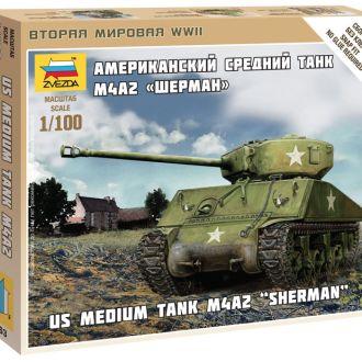 Американский танк Шерман M4A2 - Звезда6263