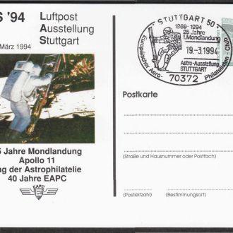 Германия 1994 25 ЛЕТ ПОСАДКЕ НА ЛУНУ КОСМИЧЕСКИЙ КОРАБЛЬ АПОЛЛОН КОСМОС ДОСТИЖЕНИЯ ПК СГ