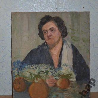 Довгалевская ,,Бабушка,, холст, масло.