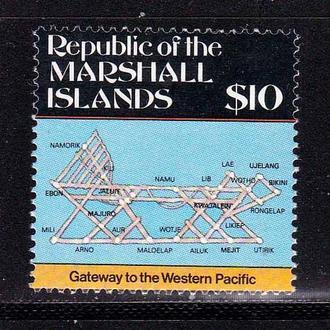 Маршаллы 1987 г MNH - навигационная карта
