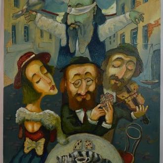 Подпись Вутянов А. ,,Игра в карты,, 2010. Холст, масло. Размеры 80х60 см.