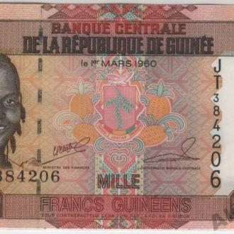 Гвинея 1000 франков 2006 г. в UNC