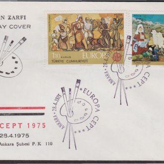 Турция 1975 ЕВРОПА ЖИВОПИСЬ КПД Mi.2355-6 EUR 9.-