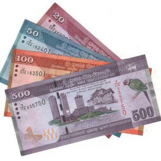 Шри-Ланка 4 боны 2015г. в UNC 20-50-100-500 рупий