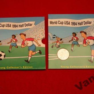 50 Центов США Чемпионат Мира 1994 (UNC) в буклете