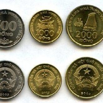 Vietnam/ Вьетнам - набор 5 монет 2003 - aUNC - OLM