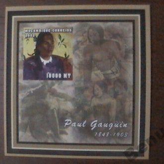 Мозамбик 2002 БЛ б/з MNH живопись Поль Гоген